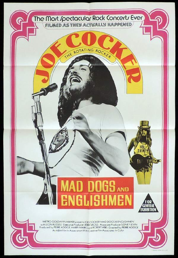 MAD DOGS AND ENGLISHMEN One sheet Movie poster JOE COCKER Rock and Roll
