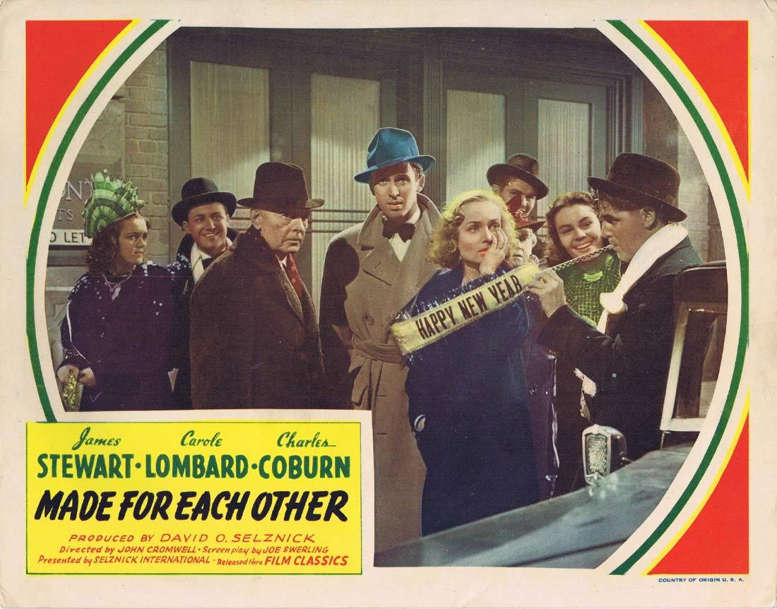 MADE FOR EACH OTHER Vintage Lobby Card Carole Lombard James Stewart