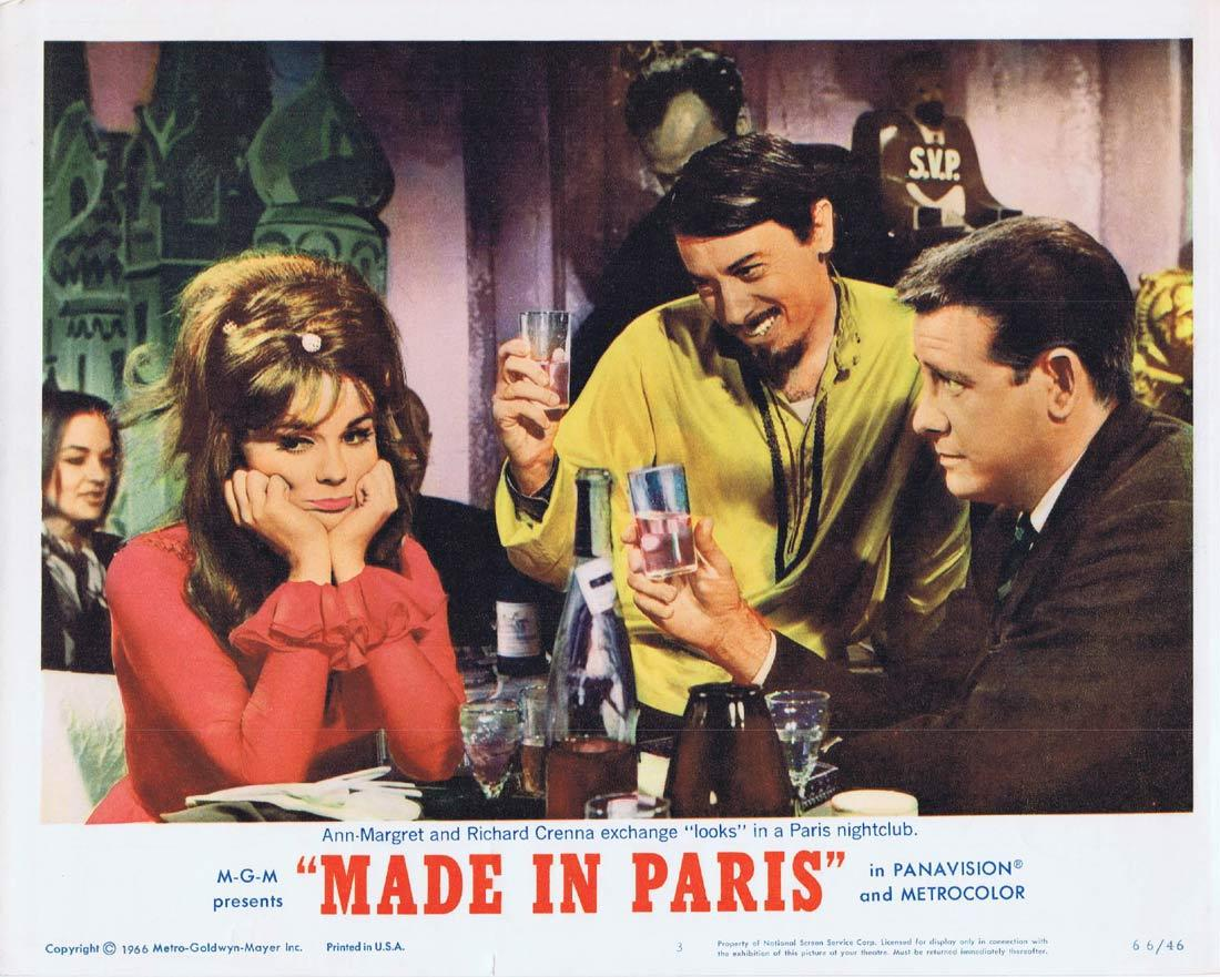 MADE IN PARIS Lobby Card 3 Louis Jourdan Ann-Margret Richard Crenna Chad Everett