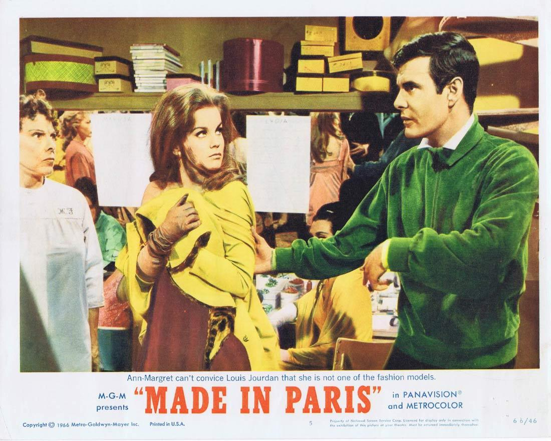 MADE IN PARIS Lobby Card 5 Louis Jourdan Ann-Margret Richard Crenna Chad Everett