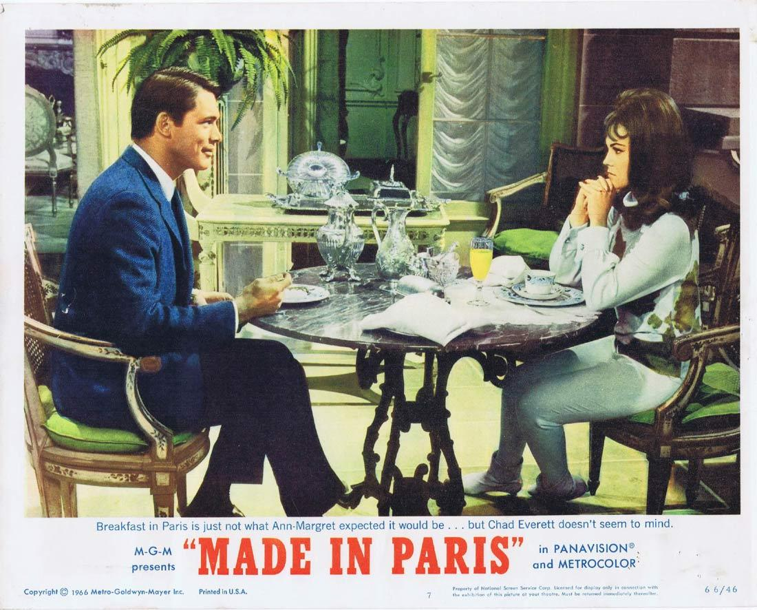 MADE IN PARIS Lobby Card 7 Louis Jourdan Ann-Margret Richard Crenna Chad Everett
