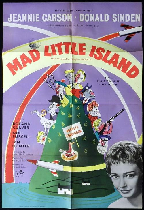 MAD LITTLE ISLAND aka ROCKETS GALORE British One Sheet Movie Poster Donald Sinden