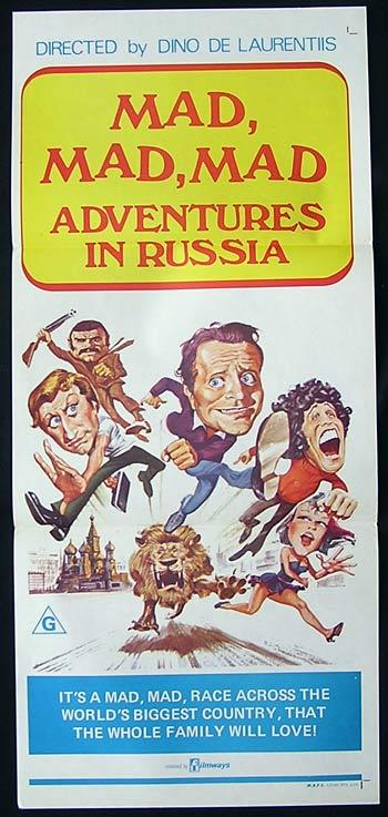 MAD MAD MAD ADVENTURES IN RUSSIA Original Daybill Movie Poster