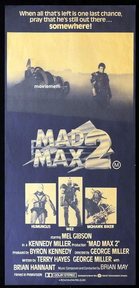MAD MAX 2 Original Daybill Movie Poster RARE Orange Style