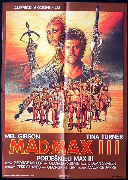 MAD MAX BEYOND THUNDERDOME '86 Mel Gibson Yugoslav 1 sht Movie Poster