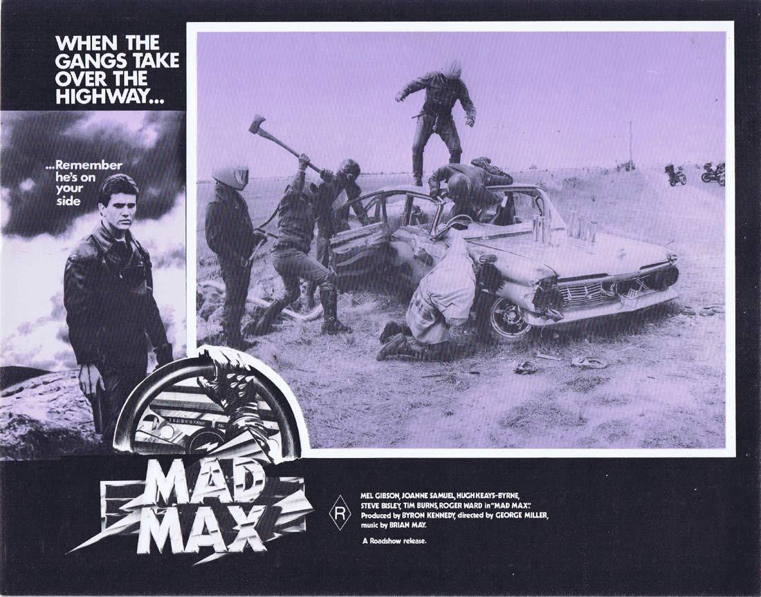 MAD MAX Original Australian Lobby Card Mel Gibson