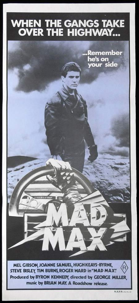 mad max original daybill movie poster 1979 mel gibson