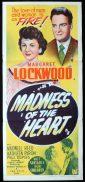 MADNESS OF THE HEART Original Daybill Movie Poster Margaret Lockwood