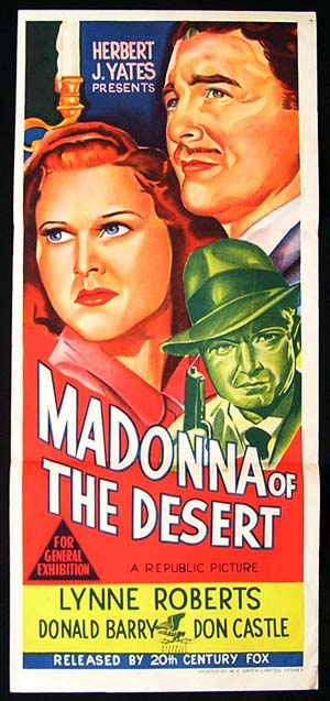 MADONNA OF THE DESERT Daybill Movie poster Lynne Roberts