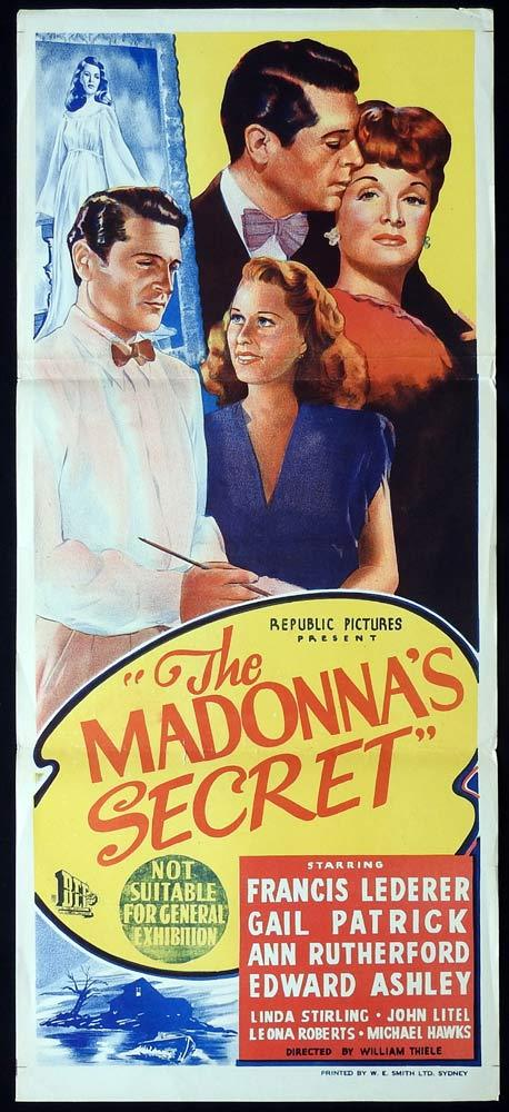 THE MADONNA'S SECRET Original Daybill Movie poster  Francis Lederer Gail Patrick