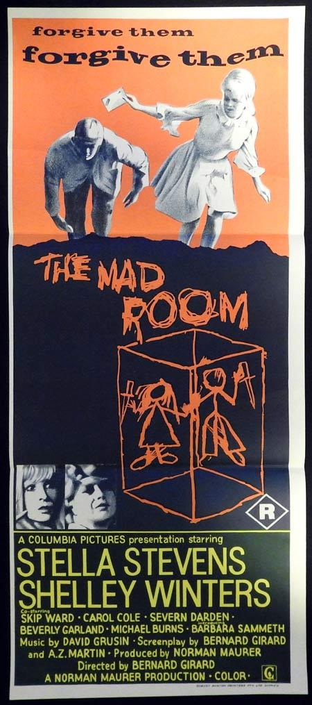 THE MAD ROOM Original Daybill Movie Poster Stella Stevens Shelley Winters