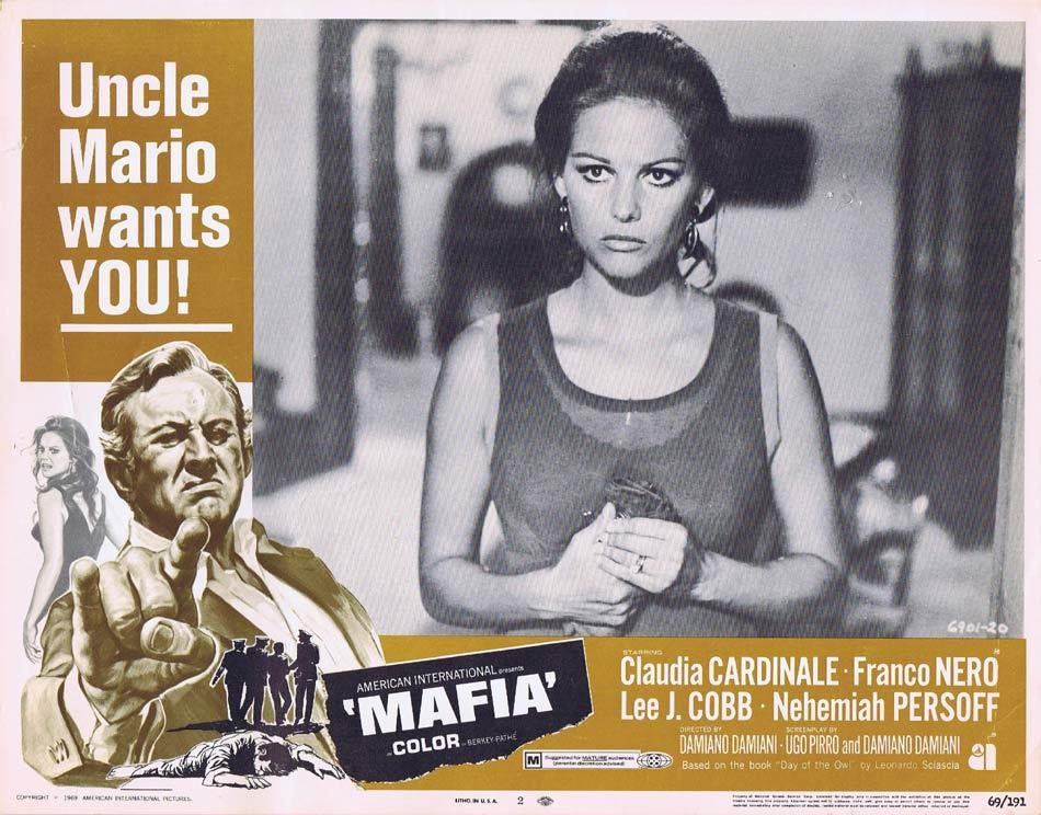 MAFIA Lobby Card 2 Claudia Cardinale Lee J.Cobb
