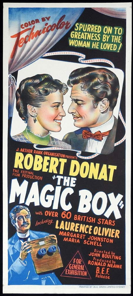 THE MAGIC BOX Original Daybill Movie Poster Robert Donat Renée Asherson