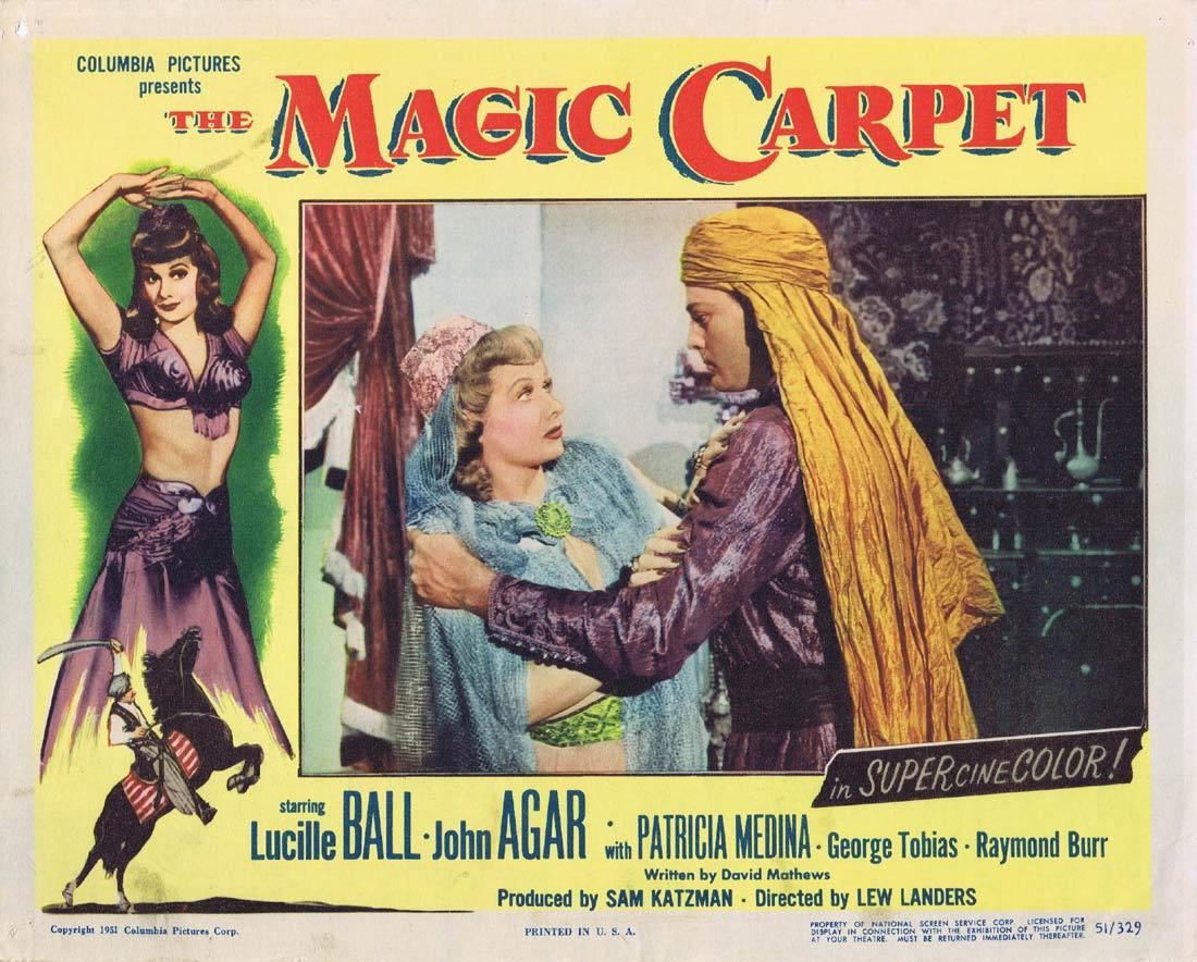 THE MAGIC CARPET Lobby Card Lucille Ball John Agar Patricia Medina George Tobias