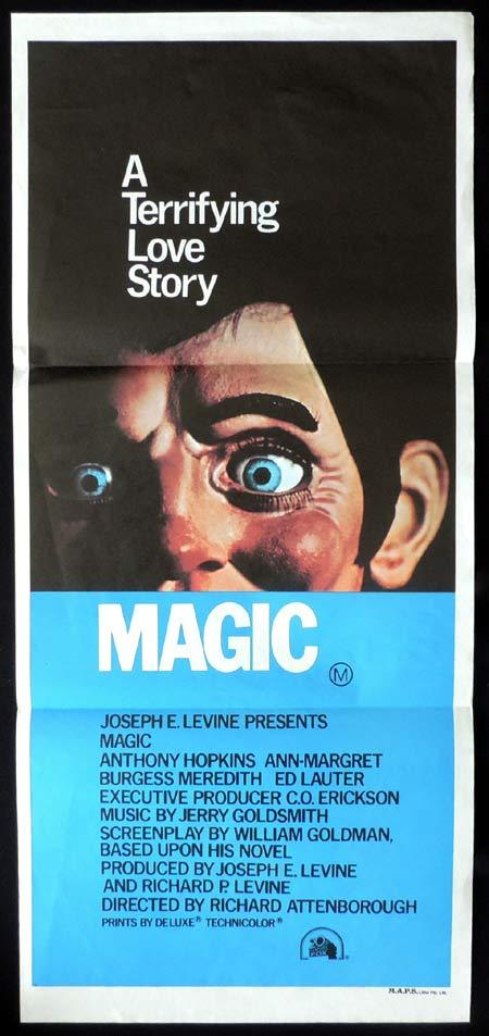 MAGIC daybill Movie poster Anthony Hopkins Ventriloquist