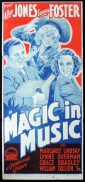 MAGIC IN MUSIC Original Daybill Movie Poster Allan Jones Richardson Studio