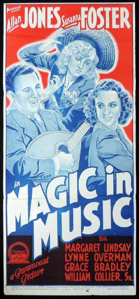 MAGIC IN MUSIC Original Daybill Movie Poster Allan Jones Richardson Studio