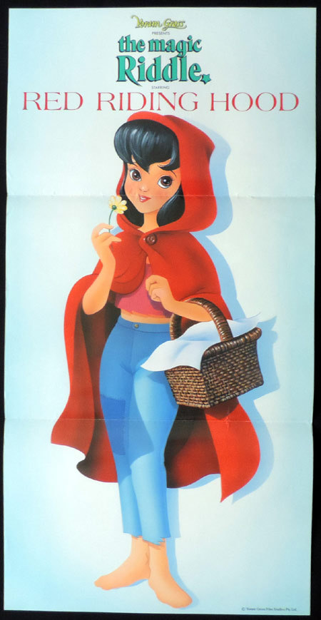 THE MAGIC RIDDLE Daybill Movie poster LITTLE RED RIDING HOOD