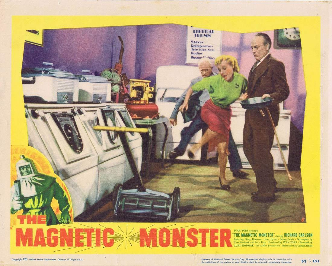 THE MAGNETIC MONSTER Lobby Card Richard Carlson King Donovan Sci Fi
