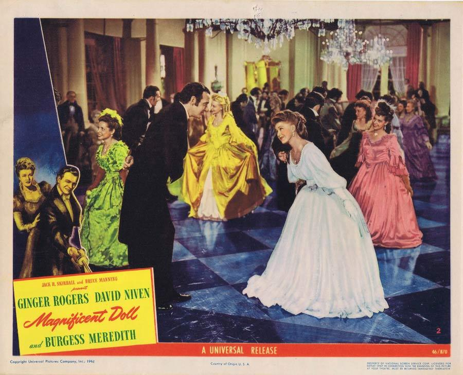 MAGNIFICENT DOLL Lobby Card 2 Ginger Rogers David Niven