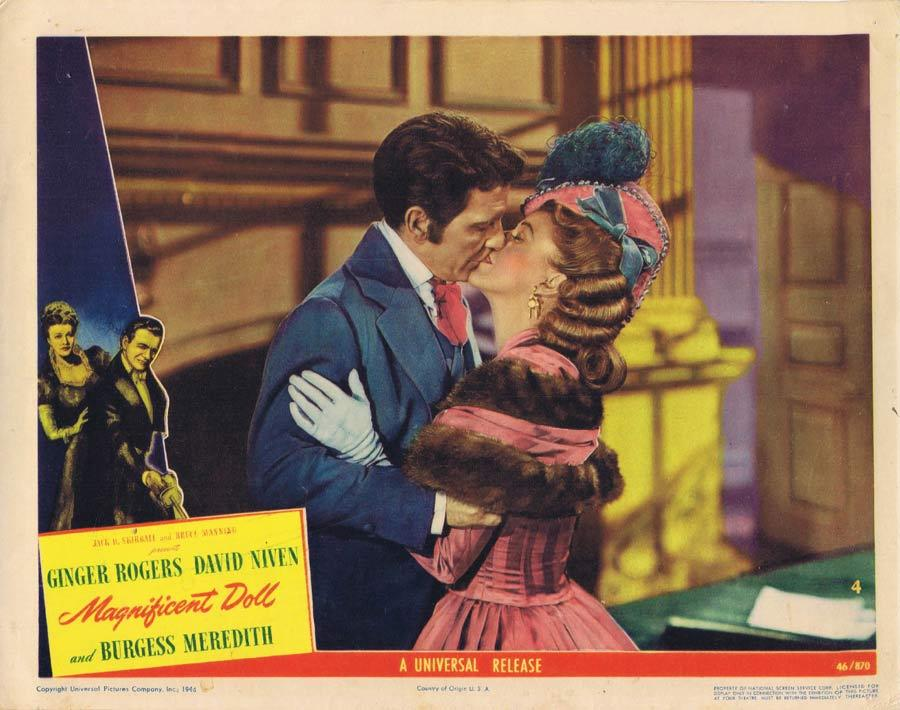 MAGNIFICENT DOLL Lobby Card 4 Ginger Rogers David Niven