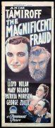 THE MAGNIFICENT FRAUD Long Daybill Movie poster 1939 Akim Tamiroff Lloyd Nolan