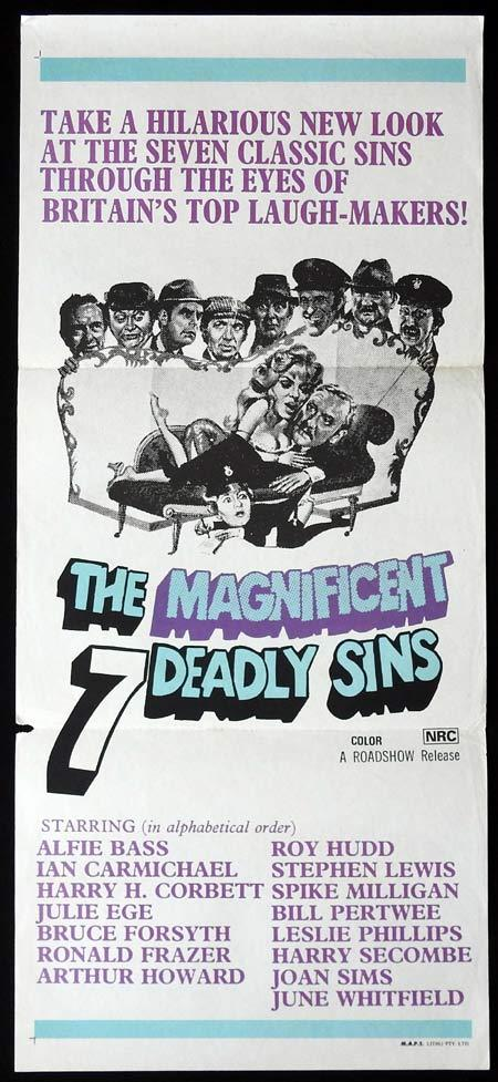THE MAGNIFICENT SEVEN DEADLY SINS Original daybill Movie Poster British Comedy