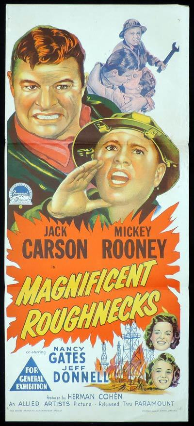 MAGNIFICENT ROUGHNECKS Richardson Studio MICKEY ROONEY Daybill Movie poster
