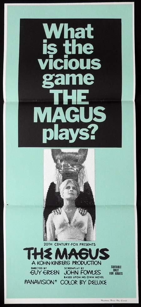 THE MAGUS Rare Daybill Movie Poster Anthony Quinn Michael Caine Candice Bergen