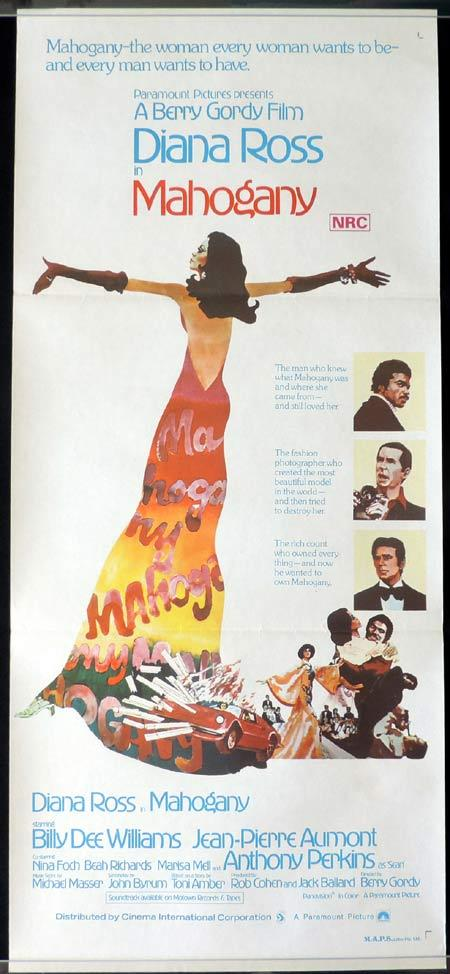 MAHOGANY Original Daybill Movie Poster Diana Ross Billy Dee Williams Jean-Pierre Aumont