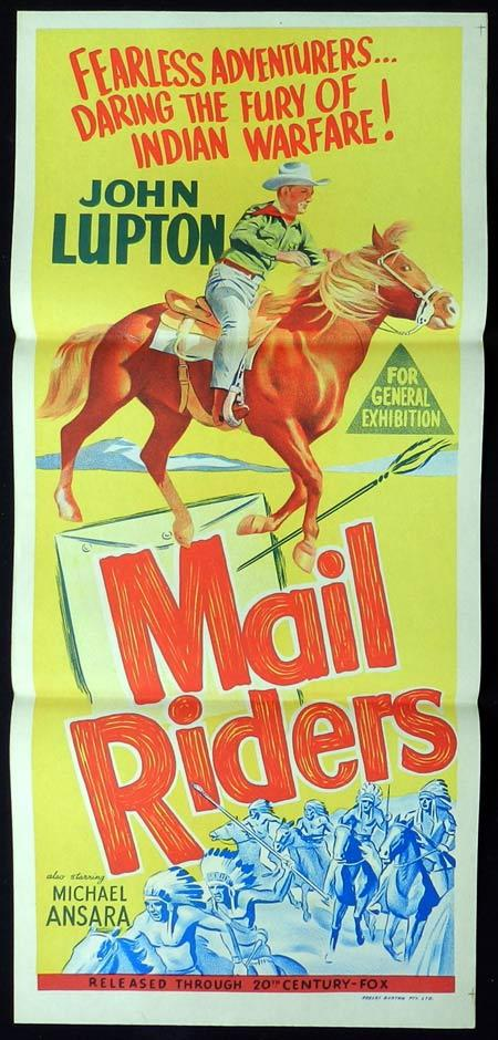 MAIL RIDERS Original Daybill Movie Poster John Lupton
