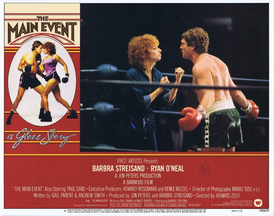 THE MAIN EVENT Original Lobby Card 4 Barbra Streisand Ryan O'Neal