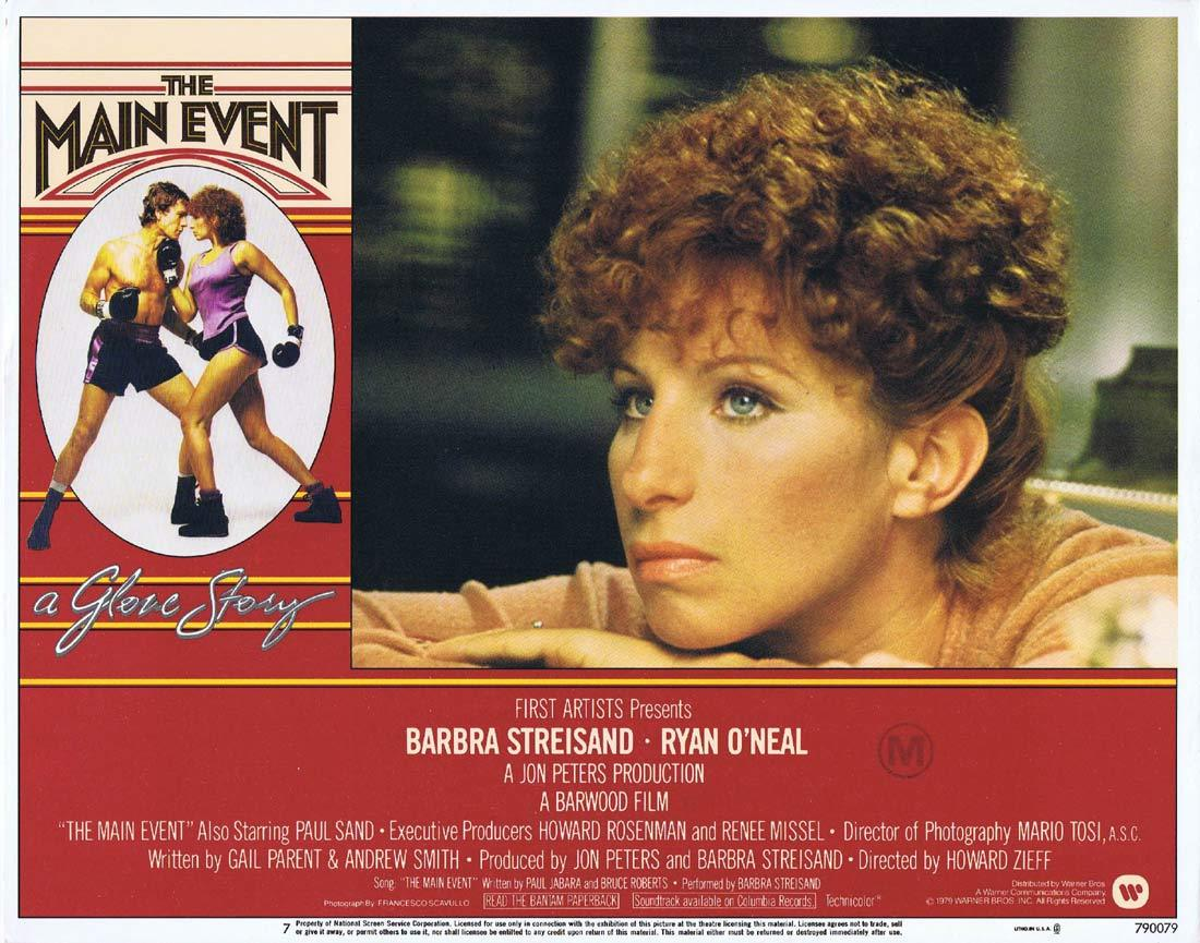 THE MAIN EVENT Original Lobby Card 7 Barbra Streisand Ryan O'Neal