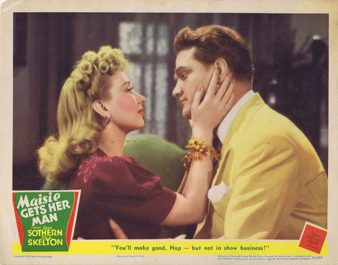 MAISIE GETS HER MAN Lobby card Ann Sothern Red Skelton Leo Gorcey 1942