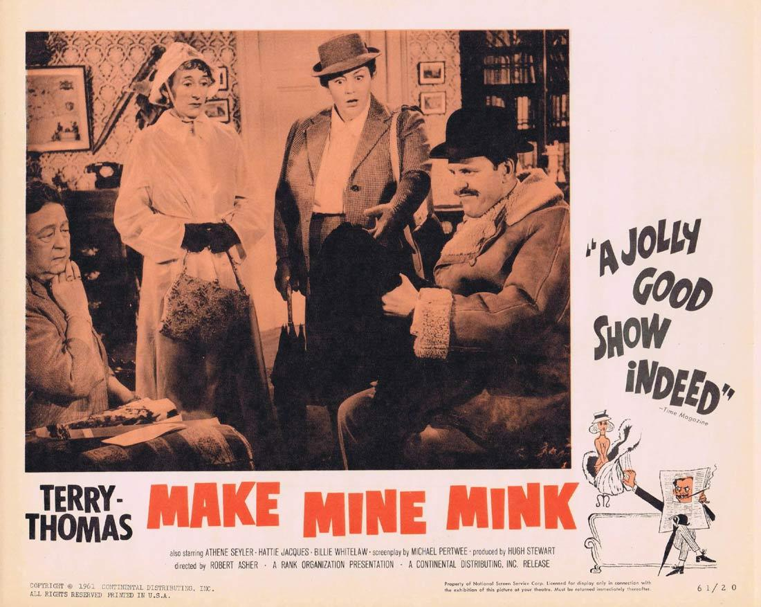 MAKE MINE MINK Lobby Card 1 Terry-Thomas Athene Seyler Hattie Jacques Billie Whitelaw