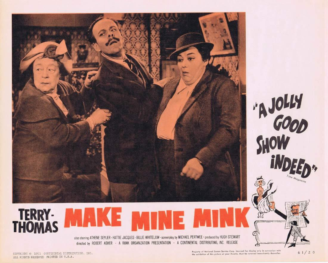 MAKE MINE MINK Lobby Card 2 Terry-Thomas Athene Seyler Hattie Jacques Billie Whitelaw