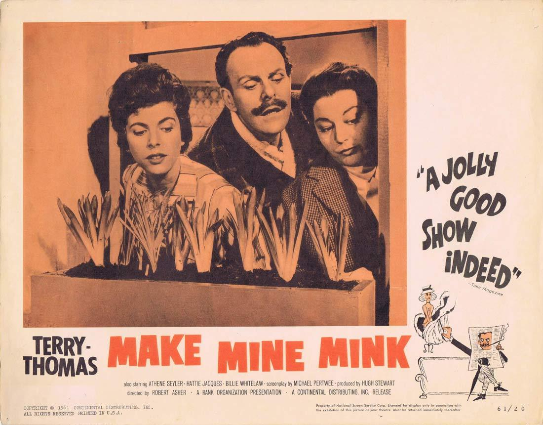 MAKE MINE MINK Lobby Card 5 Terry-Thomas Athene Seyler Hattie Jacques Billie Whitelaw