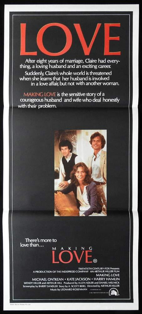 MAKING LOVE Daybill Movie poster Michael Ontkean Kate Jackson Harry Hamlin