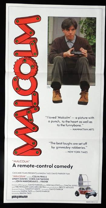 MALCOLM 1986 Colin Friels ORIGINAL Daybill Movie poster