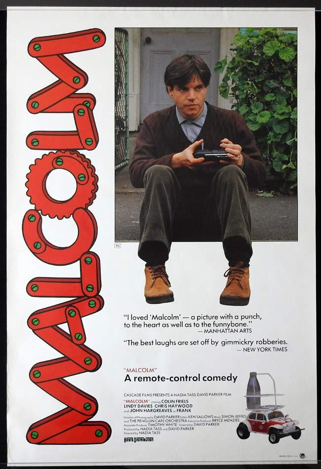 MALCOLM Original ROLLED One sheet Movie poster