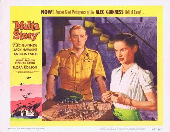 THE MALTA STORY 1954 Alec Guinness Lobby Card 4