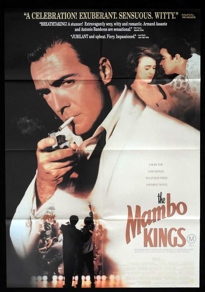 THE MAMBO KINGS One sheet Movie Poster Armand Assante Antonio Banderas