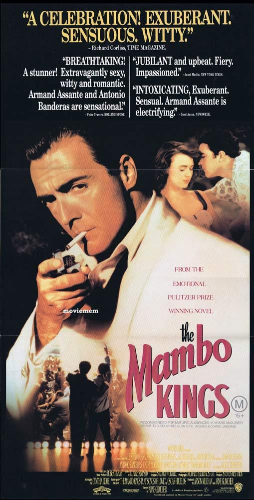 THE MAMBO KINGS Daybill Movie Poster Armand Assante Antonio Banderas