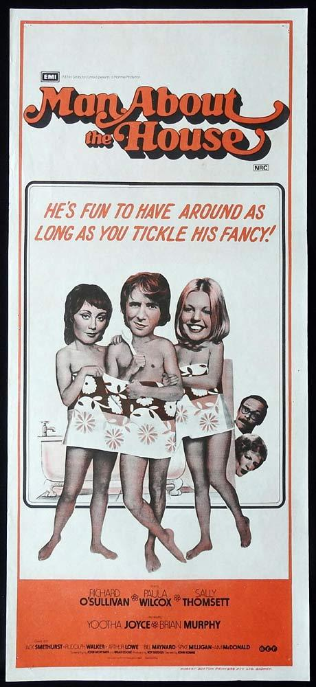 MAN ABOUT THE HOUSE Original Daybill Movie Poster Richard O'Sullivan Paula Wilcox