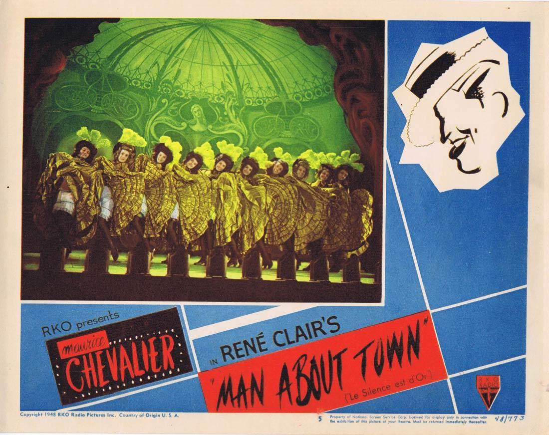 RENE CLAIR'S MAN ABOUT TOWN Lobby Card 5 1948 Maurice Chevalier Chrous Girls