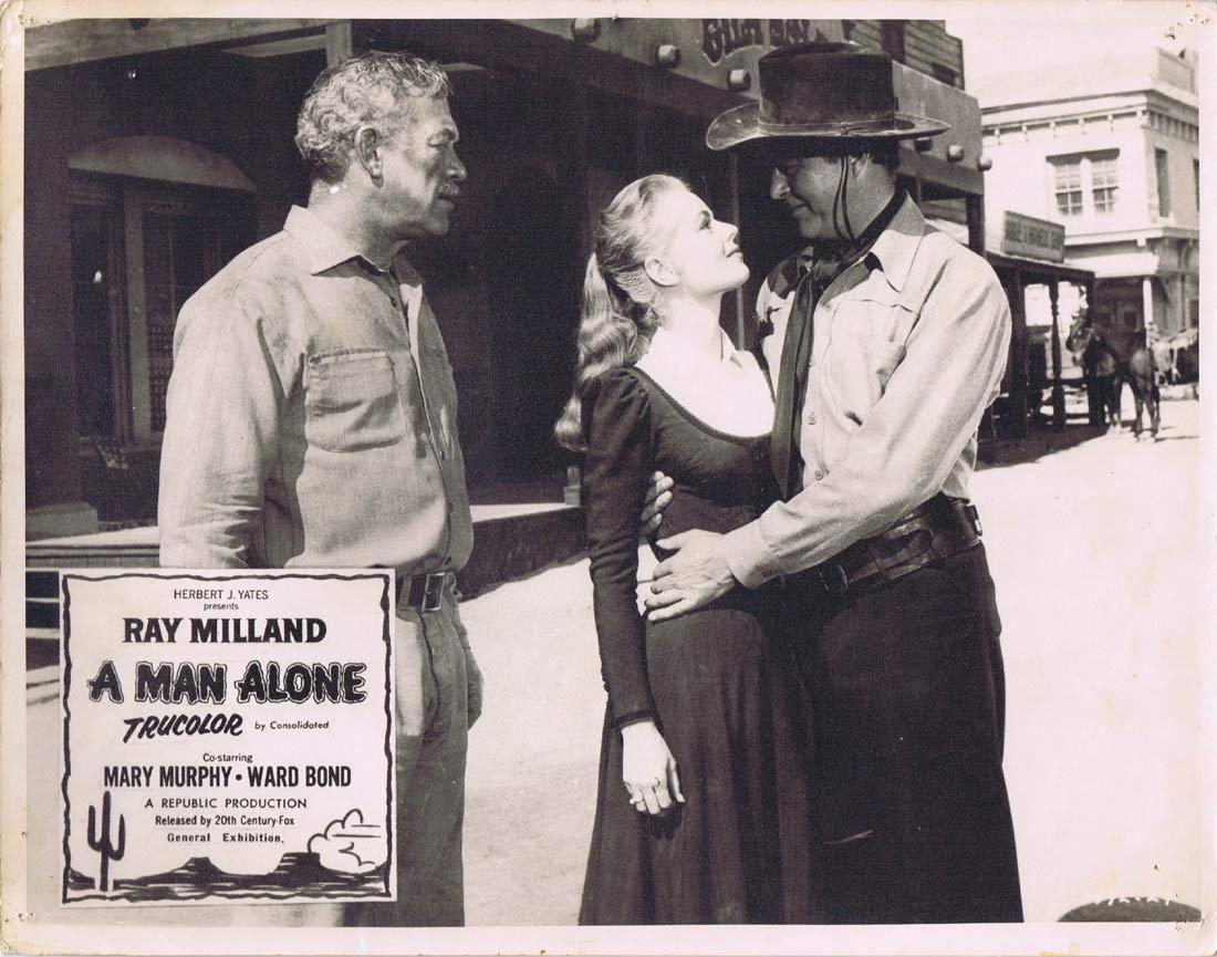 A MAN ALONE Original Australian Lobby Card 4 RAY MILLAND Mary Murphy