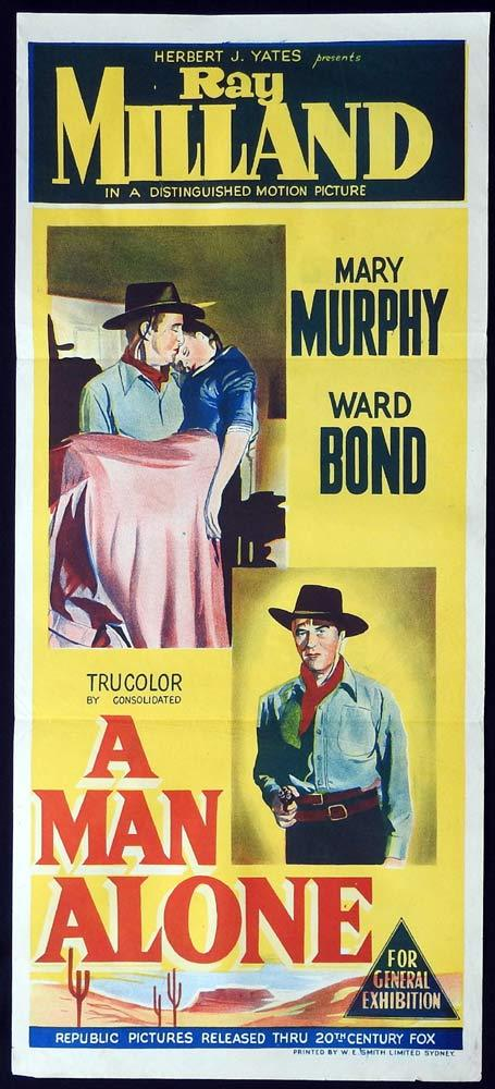 A MAN ALONE Daybill Movie Poster Ray Milland Western