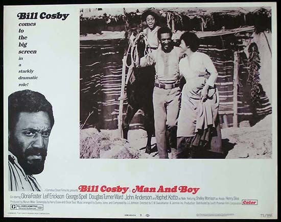 MAN AND BOY 1971 Bill Cosby ORIGINAL US Lobby card 3