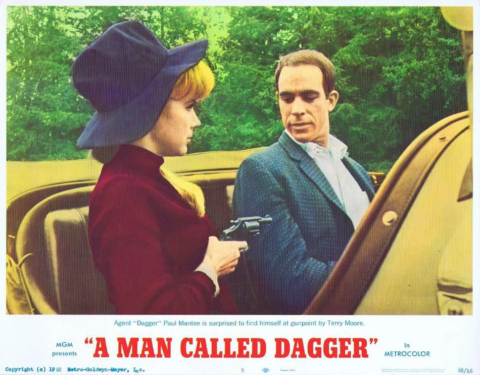 A MAN CALLED DAGGER Lobby Card 4 Paul Mantee Terry Moore Jan Murray Richard Kiel
