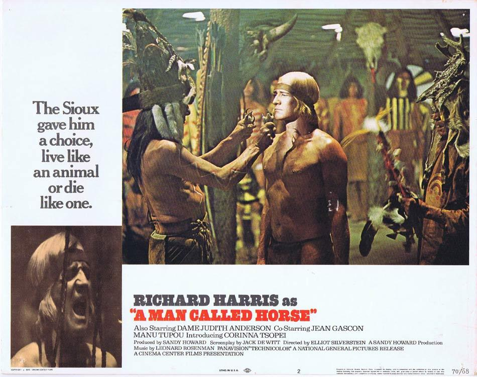 A MAN CALLED HORSE Lobby Card 2 Richard Harris